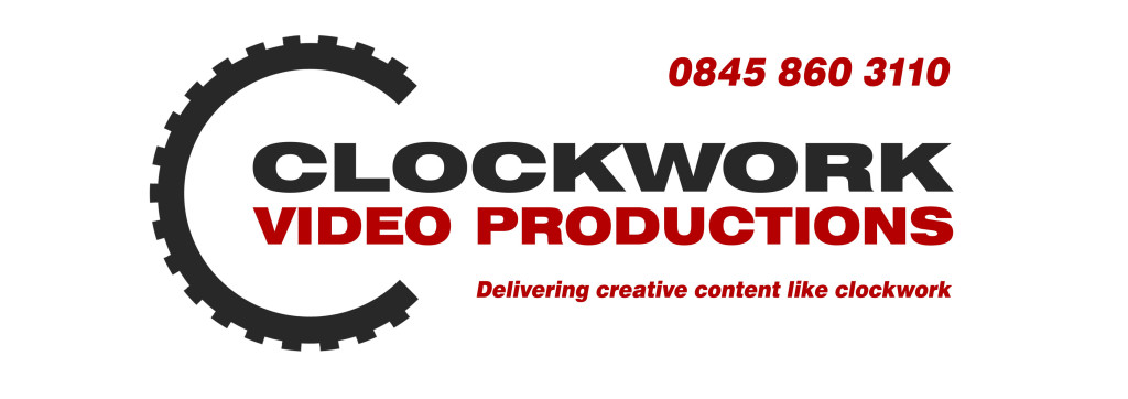 Clockwork Video Productions logo and phone number